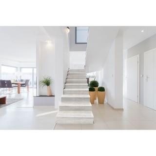 Contremarche adhésive en PVC imitation Bois - L. 100 x l. 17 cm - Blanc