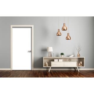 Sticker pour porte d'intérieur Home - L. 83 x l. 204 cm - Blanc