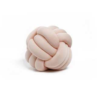 Coussin décoratif tressé Knot - Diam. 30 cm - Rose pale