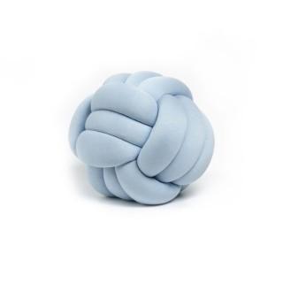 Coussin décoratif tressé Knot - Diam. 30 cm - Bleu pale