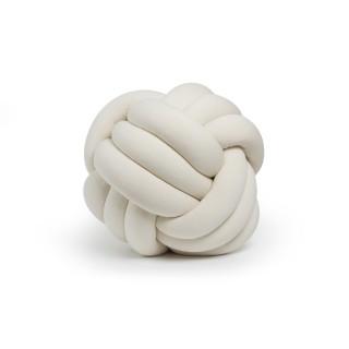 Coussin décoratif tressé Knot - Diam. 45 cm - Beige