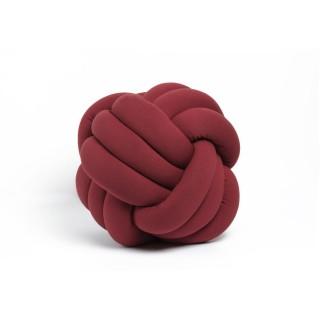 Coussin décoratif tressé Knot - Diam. 45 cm - Bordeaux