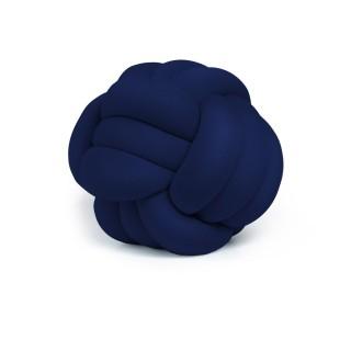 Coussin décoratif tressé Knot - Diam. 45 cm - Bleu navy