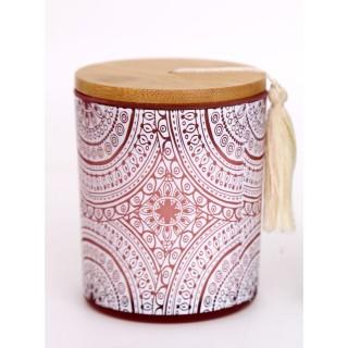 Bougie parfumée en pot bohème Mandala - Rose