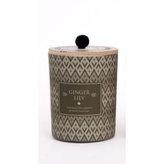 Bougie parfumée en pot ethnique Elias - Gris