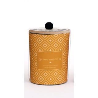 Bougie parfumée en pot ethnique Elias - Jaune