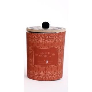 Bougie parfumée en pot ethnique Elias - Rouge