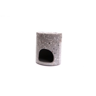 Brûle parfum design effet Terrazzo - Gris