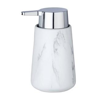 Distributeur de savon effet marbre Adrada - Blanc