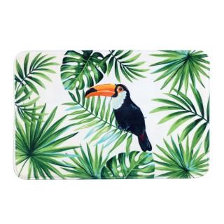 Tapis de salle de bain exotique Tucan - L. 70 x l. 45 cm - Vert
