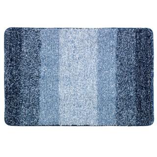 Tapis de salle de bain moderne Luso - L. 90 x l. 60 cm - Bleu