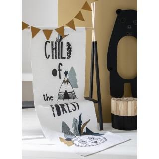 Tapis de chambre enfant Forest - L. 170 x l. 60 cm - Blanc