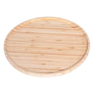 Assiette plat de présentation Bambou - Diam. 29 cm - Beige