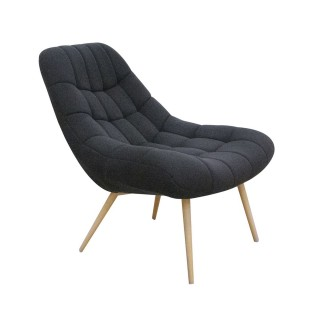 Fauteuil de salon scandinave Camdem - Noir