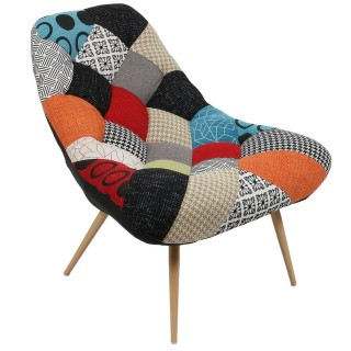 Fauteuil de salon scandinave Camdem - Multicolore