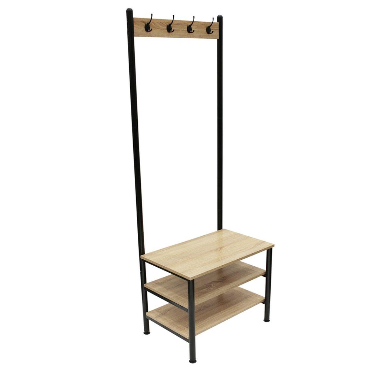 Meuble D Entrée Industriel meuble d'entrée industriel indus - l. 60 x h. 175 cm - noir