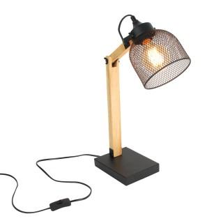 Lampe de bureau industrielle Indus - H. 38 cm - Noir