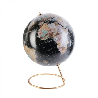 Globe terrestre design Déco - Noir