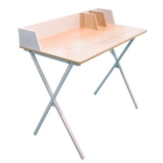 Bureau industriel Brice - L. 90 x l. 84 cm - Blanc