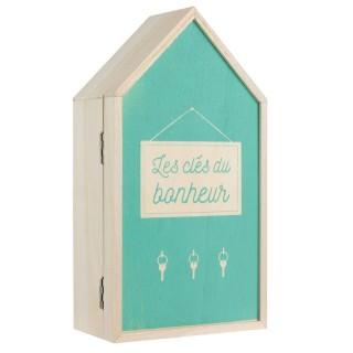 Boîte à clés design Home - L. 15 x H. 27 cm - Vert