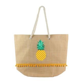 Sac cabas ananas Exotic - Jaune