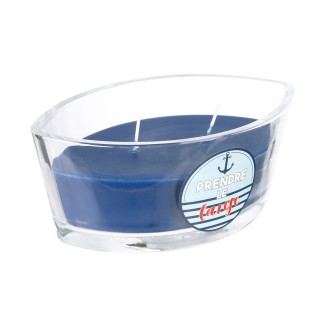 Bougie parfumée Bord de mer Marin - Bleu