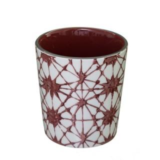 Mug design rond Shibori - 190 ml - Rouge