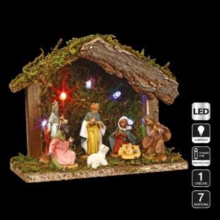 Crèche de Noël à LED - 7 Santons