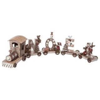 Décoration de Noël en bois Train - Marron