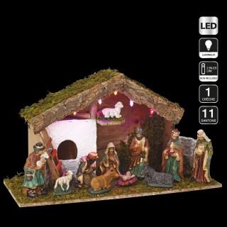 Crèche de Noël à LED - 11 Santons