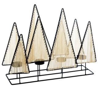 Photophore de Noël design Milano - 4 Bougies - Noir