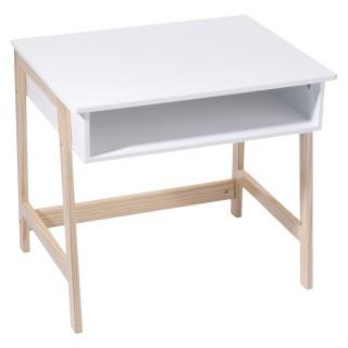 Bureau en bois enfant Douceur - L. 58 x H. 52 cm - Blanc