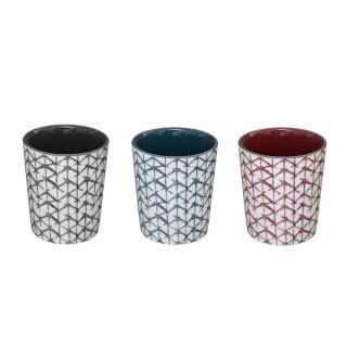 3 Mugs design Shibori - 190 ml