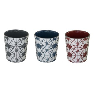 3 Mugs design rond Shibori - 190 ml