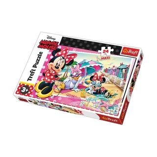 Puzzle les vacances de Minnie - + 3 ans - 24 pièces Maxi