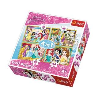 4 Puzzles Princesses - + 4 ans - 35/48/54/70 pièces
