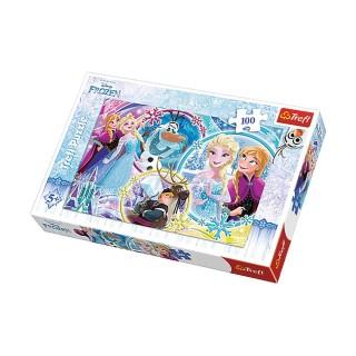 Puzzle Reine des Neiges Le pays de l'amitié - + 5 ans - 100 pièces