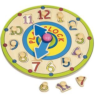 Jouet éducatif en bois - Horloge pour apprendre l'heure