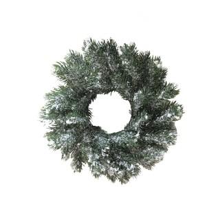 Couronne de Noël enneigée Norvégien - Diam. 45 cm - Vert