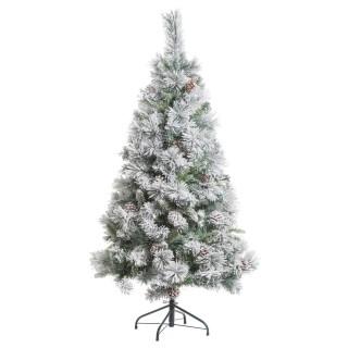 Sapin de Noël artificiel enneigé Minnesota - H. 180 cm - Vert