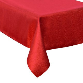 Nappe de Noël Paillettes - L. 140 x l. 360 cm - Rouge