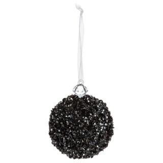 Boule de Noël pailletée Comptoir de Noël - Noir