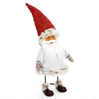Décoration de Noël Comptoir Père Noël - H. 35 cm - Rouge