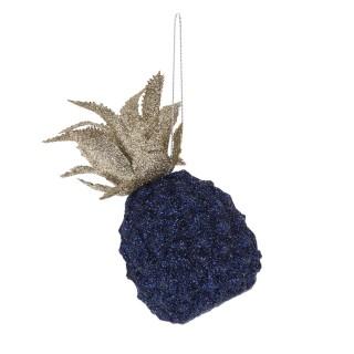 Déco pour sapin de Noël Ananas Jungle - Bleu