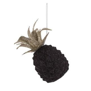 Déco pour sapin de Noël Ananas Jungle - Noir