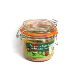 Foie gras de canard entier du Sud Ouest IGP - La Ferme du Puntoun - bocal : 180g