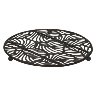 Dessous de plat design Jungle Chic - Noir