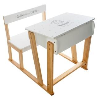 Bureau pupitre enfant Douceur - L. 58 x H. 63 cm - Blanc