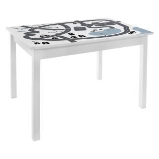 Bureau table enfant Print Douceur - L. 77 x H. 48 cm - Blanc et gris