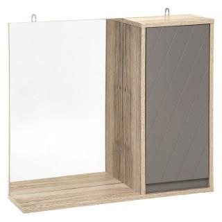 Armoire de toilette design Elda - L. 57 x H. 49 cm - Gris
